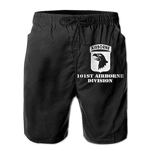 Airborne Shorts (Citr Hunrr Mens Fashion Quick Dry Beach Short Army 101st Airborne Casual Beach Short)