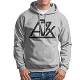 Men Avenged Sevenfold A7x Logo Hooded Sweatshirt Ash