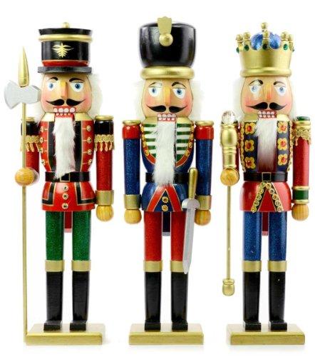 Kurt S. Adler 20'' Wooden Soldier/King Nutcrackers Set of 3 Assorted by Kurt Adler