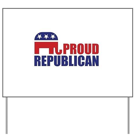 2dc404c09 Amazon.com  CafePress Proud Republican Elephant Logo Yard Sign ...