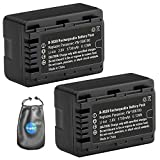 ValuePack (2 Count): Digital Replacement Camera and Camcorder Battery for Panasonic VW-VBK180, VWVBK180K-Includes Lens Pouch