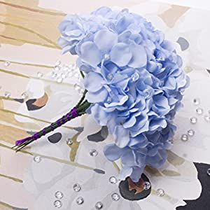 10 Pcs Silk Hydrangea Flowers Artificial Hydrangea Flowers Arrangement Bridal Wedding Party Home Garden Decor 22