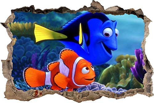 FINDING NEMO Smashed Wall Decal Removable Graphic Wall Sticker Dory18