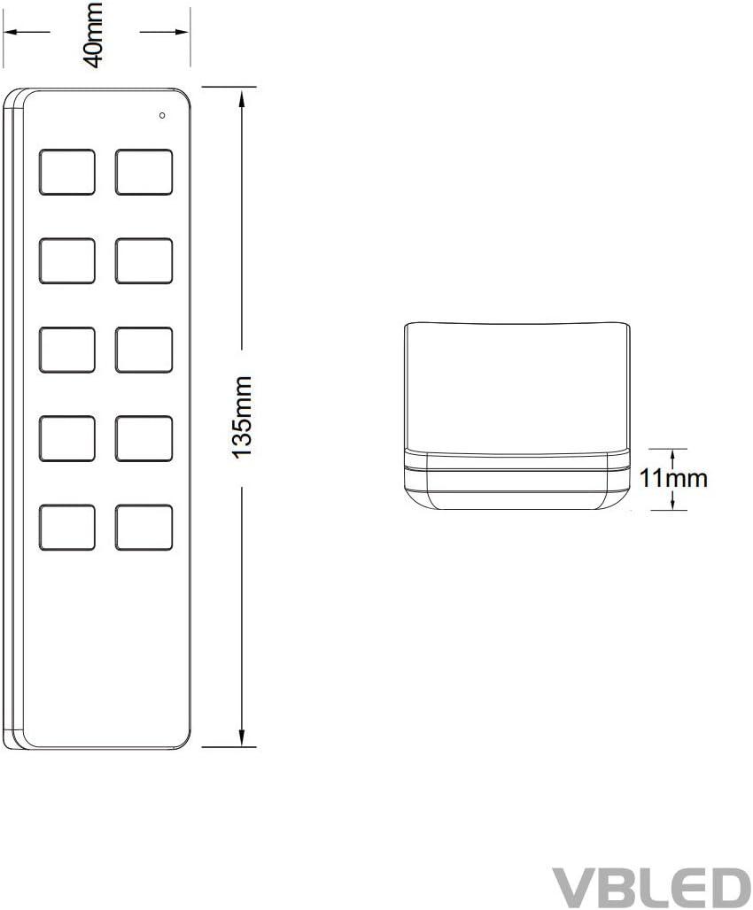 40W LED Funk Trafo 12V DC Fernbedienung EEK A++ Mini Spot IP65 Warmweiss Inkl Erweiterbar bis zu 34 LEDs IP20 VBLED/® 12er Basis Funk-Set 1W Mini-Einbauspot inkl