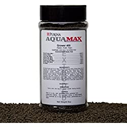 "Purina Mills Aquamax Grower 400 Starter Feed To Early Grow-Out Diet For Both Carnivorous & Omnivorous Species, Extruded 3/32""(2.4mm) Pellet With Approximately A 50% Float Rate, 45% Protein, 8 Ounces"