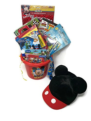 Happy Easter Basket Kids Toddlers Children Mickey Mouse Birthday Holiday Basket Bundle