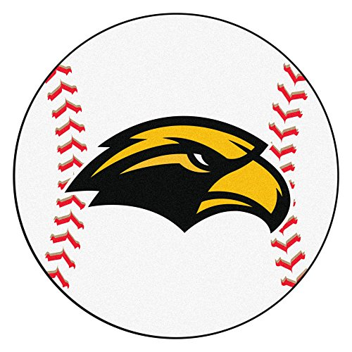 NCAA University of Southern Mississippi Southern Miss Golden Eagles Baseball Shaped Mat Round Area Rug