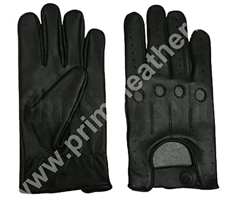 dfc7e629e5364 TOP QUALITY REAL SOFT LEATHER MENS DRIVING GLOVES BLACK LARGE: Amazon.ca:  Home & Kitchen