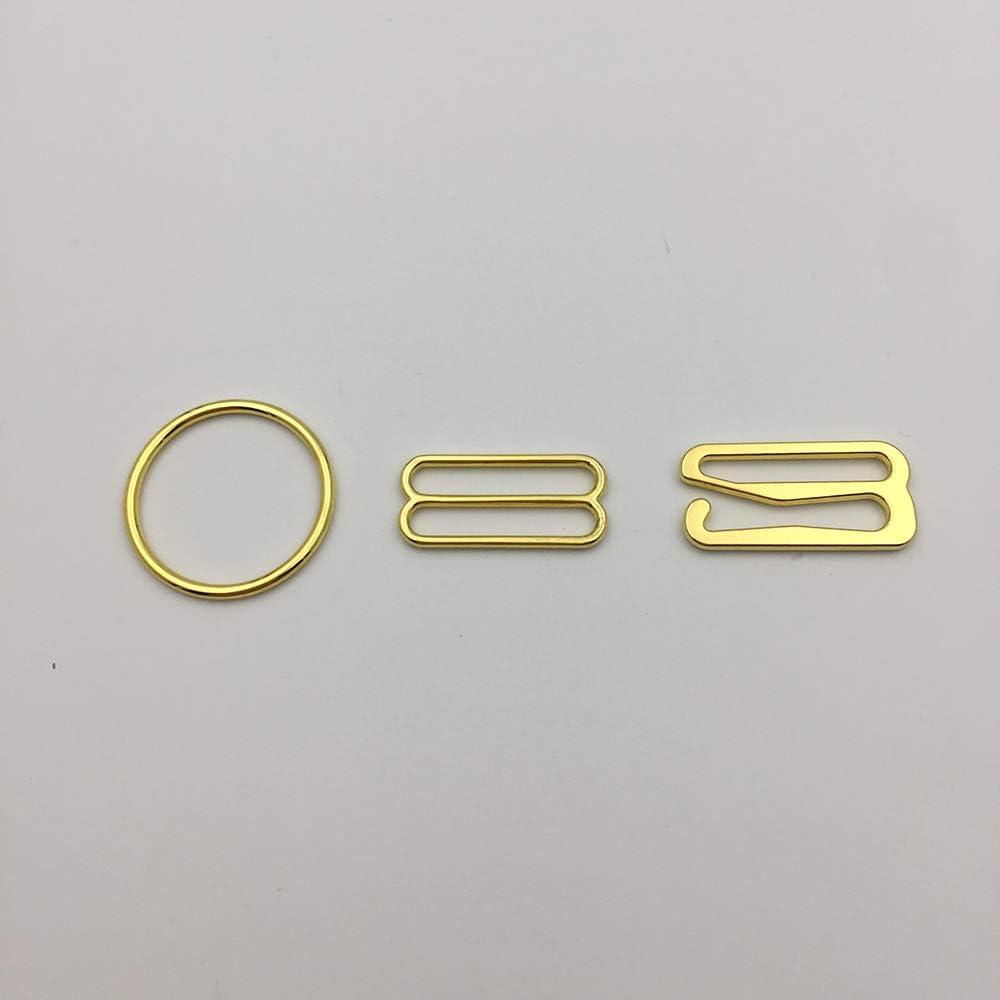 3//4 20mm Gold Metal Hooks Premium Jewelry Quality Bra Adjusters 20mm Bra Making Bramaking Supplies