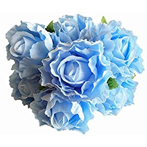 U-yaya Artificial Peony Rose Flowers Fake Silk Flowers 7 Heads Bridal Wedding Bouquet for Home Garden Party Mother's Day Decoration 49
