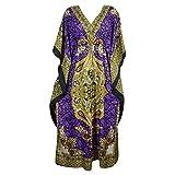 Mogul Alexa Womens Caftan Dashiki Print Kimono Kaftan Evening Beach Maxi Dress