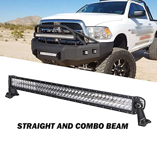 QUAKEWORLD DOT Approved 42 Inch 240W Straight LED Light Bar Spot Flood Combo Offroad Driving Lights for Truck, Jeep, SUV, UTV, Boat ()