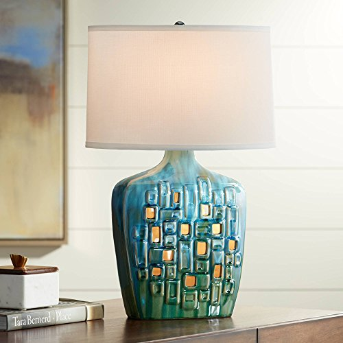 Possini Euro Vincent Ceramic Table Lamp with LED Night Light - Possini Euro Design