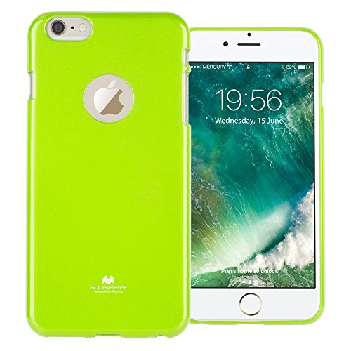 GOOSPERY Marlang Marlang iPhone 6 Plus/6S Plus Case - Lime Green, Free Screen Protector [Slim Fit] TPU Case [Flexible] Pearl Jelly [Protection] Bumper Cover for iPhone6SPlus, IP6P-JEL/SP-LIM