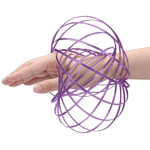 Digital Energy Kinetic Educational Spring Toy - Multi Sensory Interactive 3D Shaped Flow Ring, - Pouch Slinky