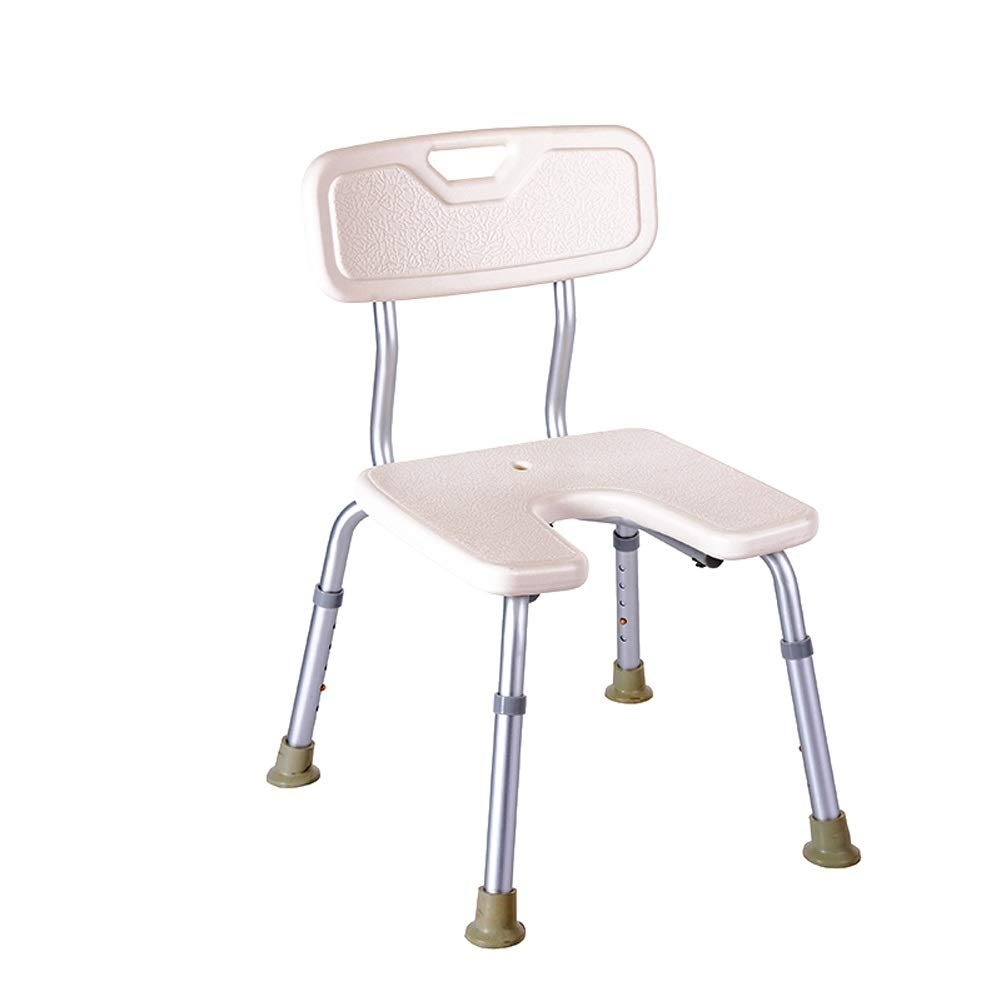 BEAUTY--shower stool Anti-Slip Shower Chair for The Elderly/Pregnant Women/Disabled,Bath Assist Seat with Backrest,Adjustable Height by BEAUTY--shower stool (Image #2)