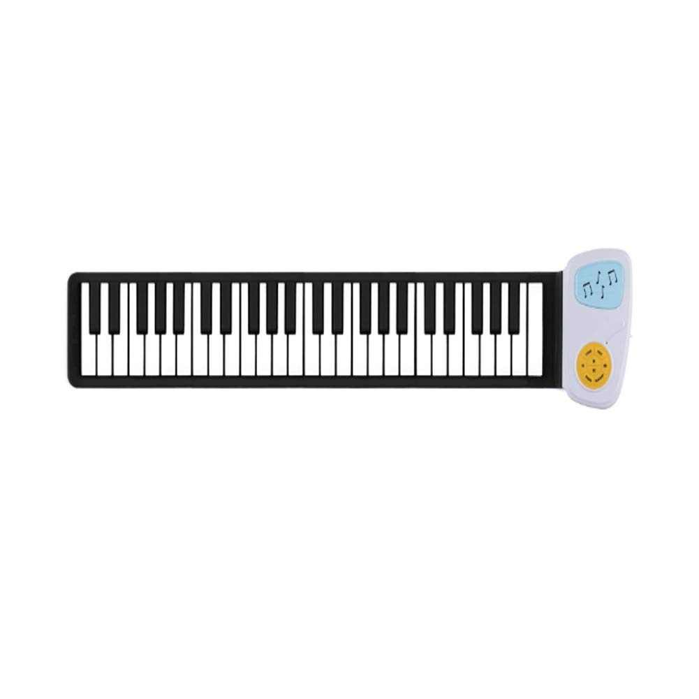 WWYH Portable Roll up Piano, 49 Keys, Digital Soft Keyboard, Excellent Sound Quality, Thick Keyboard, External Audio, Kids Toys by WWYH