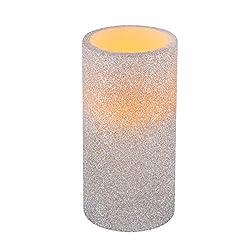 Greluna Silver Glitter Flameless Candles