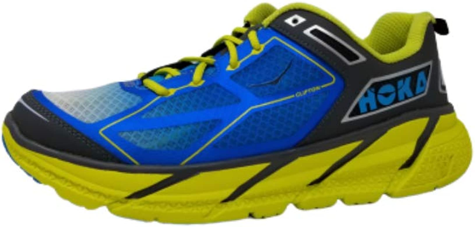 HOKA One One UNE - Zapatillas de Correr para Hombre, (cítrico/Cian/Gris.), 44 EU: Amazon.es: Zapatos y complementos