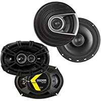 Polk Audio 6.5-Inch 300-Watt Coaxial Speakers + 360-Watt Coaxial Speakers (2 Each)