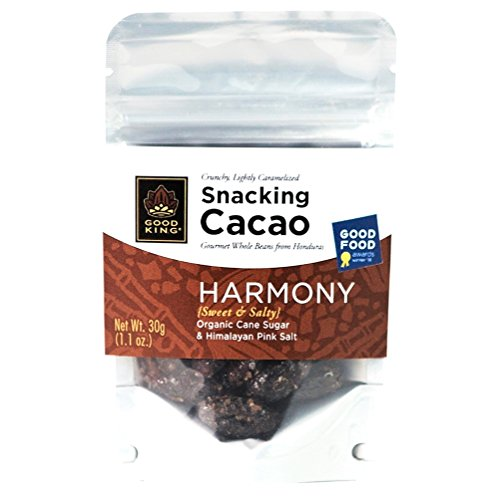 Cacao Beans Gourmet Snack Packed With HARMONY Flavor (Organic Cane Sugar & Himalayan Pink Salt) - Lightly Sweet & Salty, On the Go Snacks, Vegan, Fair Trade, Dairy-Free, GMO-Free, 30g (1.1 oz.)