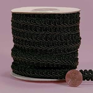 """El Gimp trenzado negro, 3/8""""x 10YD"""
