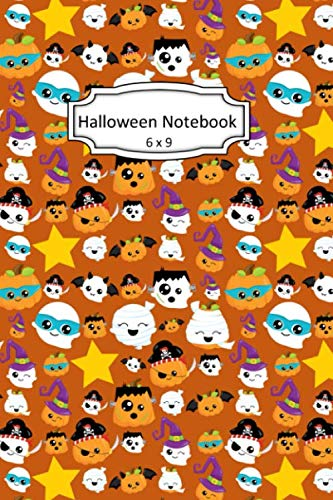 Skeleton Halloween Clipart (Halloween Notebook: Pirates Clip Art Images on 6 x 9 Blank Lined Softcover Journal for Notes , Halloween Gift Design Cover Note)
