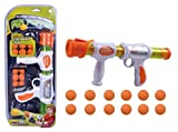 EXERCISE N PLAY Rapid Fire Atomic Power Pump Action Popper Air Powered Blaster Shooter Gun Foam Ball Battle Toy for Kids