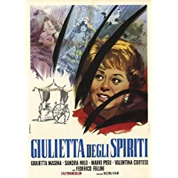 Juliet of the Spirits. Poster for the Film Starring Giulietta Masina and Sandra Milo