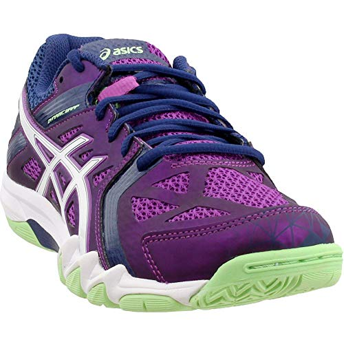 ASICS Women's Gel Court Control Volleyball Shoe, Grape/Navy/White, 8.5 M US (Best Volleyball Shoes For Libero)