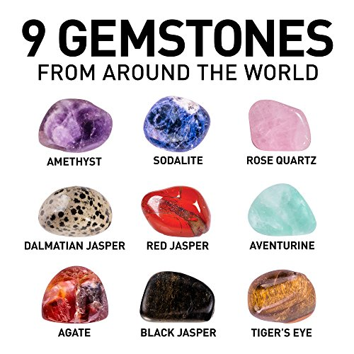 NATIONAL GEOGRAPHIC Hobby Rock Tumbler Kit – Includes Rough Gemstones, 4 Polishing Grits, Jewelry Fastenings, Learning…