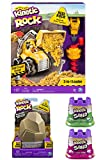 Kinetic Rock 3-in-1 Loader with Construction Tools and Real Gold Rock + Bonus Gold Rock with hidden treasure + TWO Kinetic Sand castles (varies)