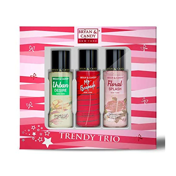 Bryan & Candy NewYork Body Fragrance Mist Spray TRIO Combo Gift Set for Women, 115 ml Each (Pack of 3) No Gas Perfume
