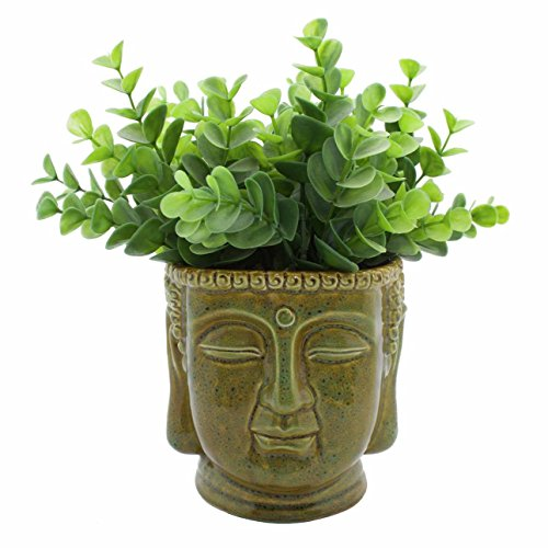 Streamline Buddha Head Ceramic Planter Pot