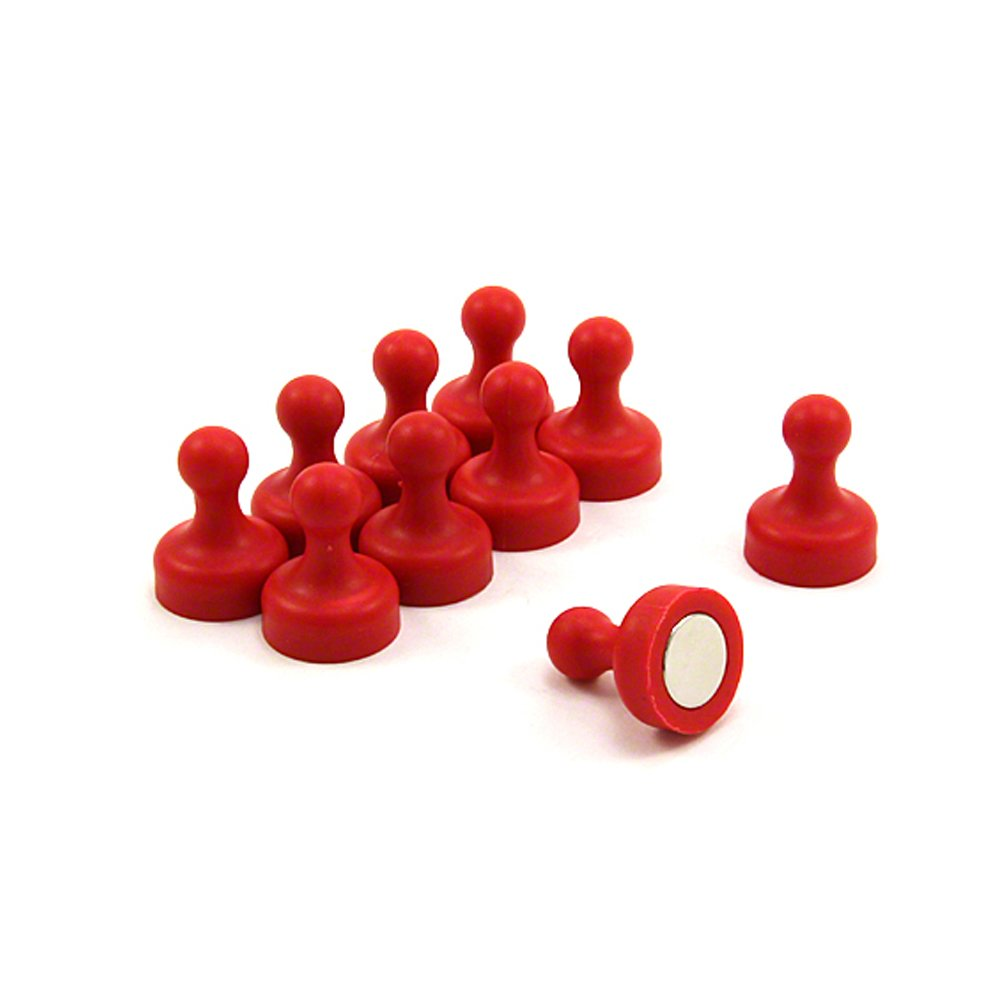 Magnet Expert  High Power Red Skittle Magnet 19mm dia x 25mm tall Office /& Fridge Pack of 10
