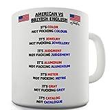british american mug - Twisted Envy American vs British English Words Ceramic Funny Mug