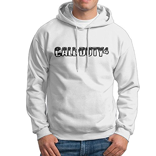Call Of Duty 4: Modern Warfare Logo Men's Cool Hooded Sweatshirt Pullover (Call Of Duty Modern Warfare 2 Multiplayer Only)
