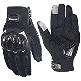 Hafone Shooting Gloves Military Hard Knuckle Tactical Gloves Full Finger Outdoor Motorcycle Gloves for Cycling Motorbike Hunting Camping Powersports Police Men Airsoft Paintbal Black