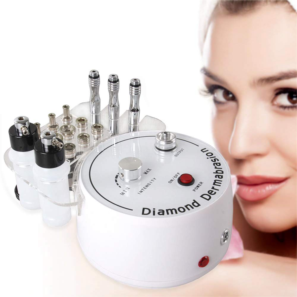 Microdermabrasion Machine, Beauty Star 3 in 1 Portable Diamond Microdermabrasion Dermabrasion Machine Facial Care Salon Equipment w/Vacuum & Spray including 360 Cotton Filters and 2 Plastic Oil Filte
