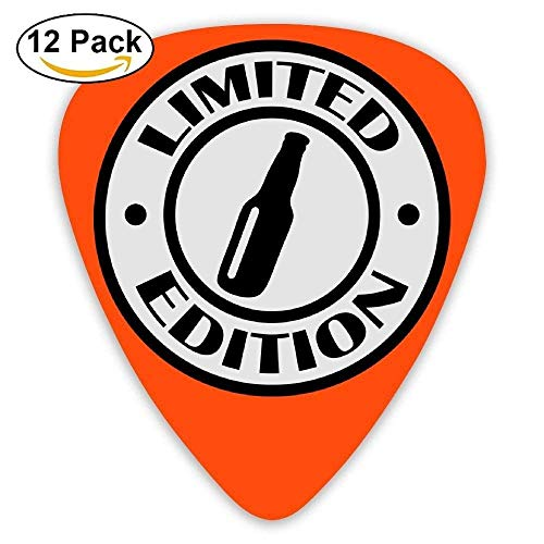 HOOAL Celluloid Guitar Picks Awesome Accessory For Guitar Fan Amateur Mandolin Guitar Plectrums,Impression Limited,12 Pack,0.46Mm/0.73Mm/0.96Mm, -