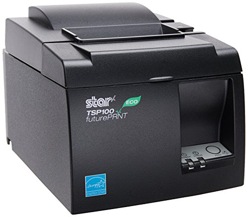 Star MicronicsTSP143IIU GRY US ECO - Thermal Receipt Printer - Cutter - USB - Gray - Internal Power Supply and Cable Included (All In One Card Reader Not Working)