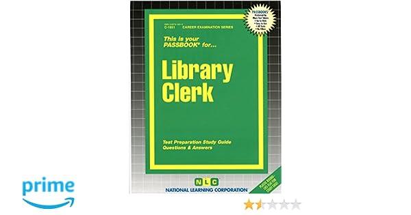 library clerk passbooks jack rudman 9780837319315 amazon com books rh amazon com Sat Study Guide Science Study Guide