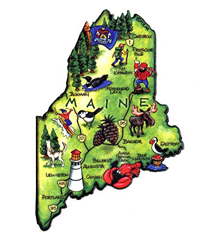 Maine the Pine Tree State Artwood Jumbo Fridge ()