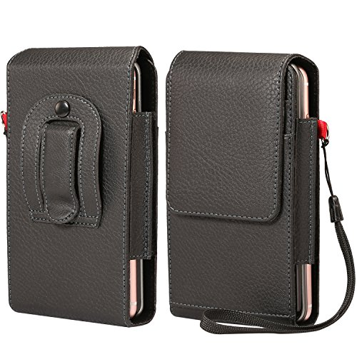 - Two-Layers Belt Clip Case Phone Holster Pouch Cards Holder Wristlet Compatible iPhone Xs Max / 8 Plus/Motorola Z3 Play / G6 Play/HTC U12 Plus/Blu Vivo XL3 Plus/Samsung Galaxy Note 8 / 9S Plus