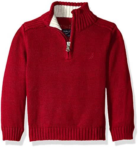 Nautica Baby Boys' Zip Neck 'Freeport' Quarter Zip Sweater
