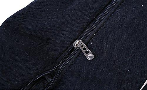 LAAT Shopping Bale Women Beach Canvas Beige Bag Rucksack Black Pouch Sack Shoulder Handbag Travel New Crossbody rX8SqxHwr