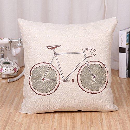 Bestseller-Frucht Fahrrad Leinen home Kissen Kissenbezug , bicycle -h (no core)