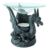 Hosley 4.92'' High Resin Dragon Incense Burner. Ideal for Spa and Aromatherapy, Suggested for use Brand Essential Oils and Fragrance Oils. P1