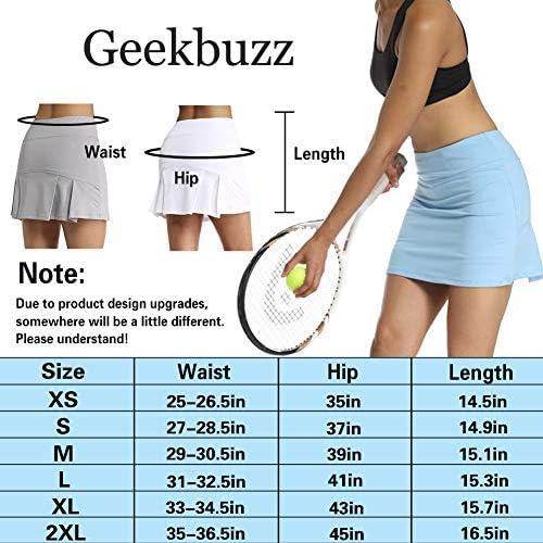 con Tasche e Pantaloncini da Donna a Pieghe Gonna da Tennis Geekbuzz