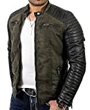 Red Bridge Men's Jacket Slim-Fit Casual Faux Leather Cotton Biker Modern Coats